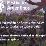 "Se abre la segunda convocatoria de ""Festivales Argentinos"""